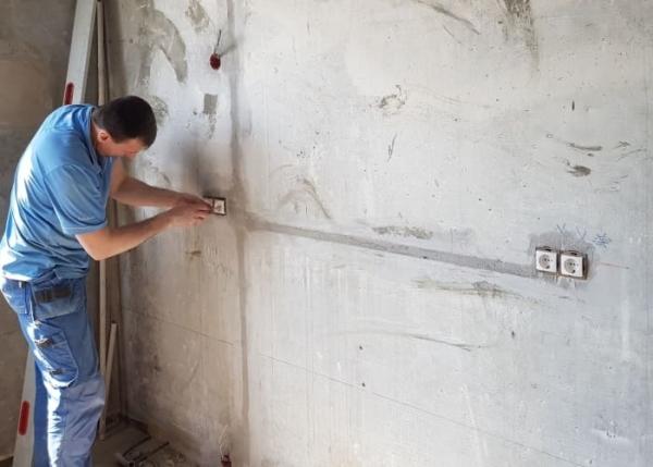 Стоимость замены проводки в однокомнатной квартире